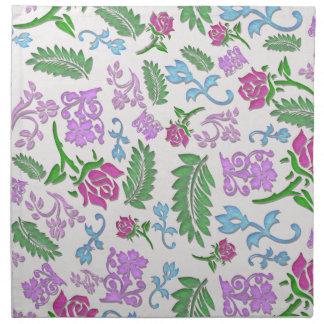 Papercut mit Blumen Stoffserviette