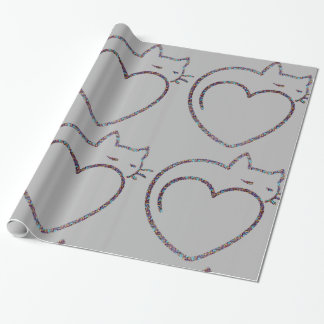 "Papier des Geschenks ""Love cats "" Geschenkpapier"