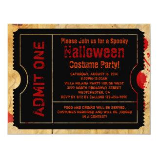Papierblut-Spritzer-Halloween-Karte 10,8 X 14 Cm Einladungskarte