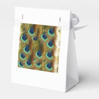 Papierkasten mit Federn Geschenkkarton