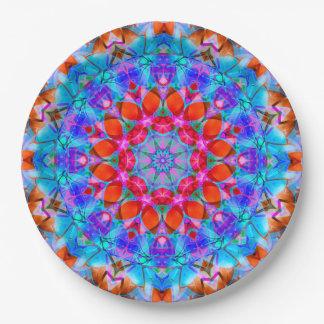 Papierplatten-Kaleidoskop Diamant-Blume G408 Pappteller