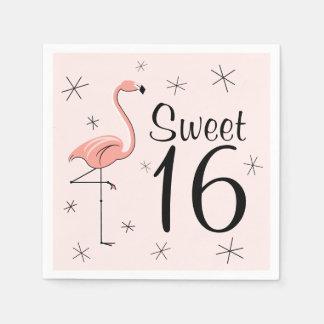 Papierservietten des Flamingo-rosa Bonbons 16