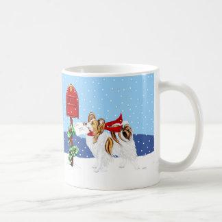 Papillon Weihnachtspost-Zobel Tasse