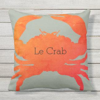 Paprika u. Meerespflanze OUTDOOR-Nautical_Crab_Le Kissen Für Draußen