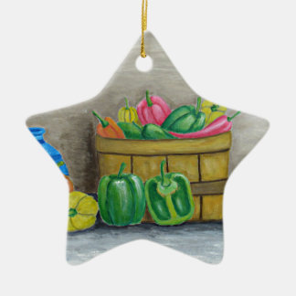 Paprikaschoten Keramik Ornament