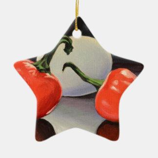Paprikaschoten und Ei Keramik Ornament
