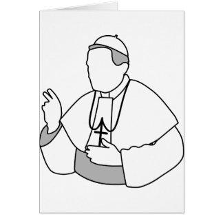 Papst Mitteilungskarten Mitteilungskarte