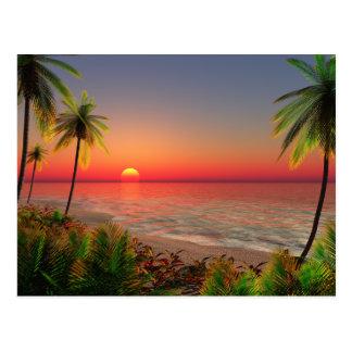 Paradies-Insel-Postkarte Postkarte