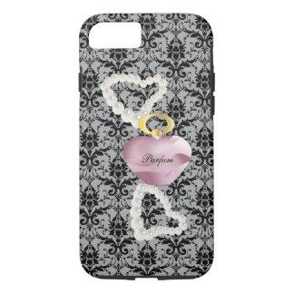 Parfum u. Perlen-graue Damast iPhone 7 starker iPhone 8/7 Hülle