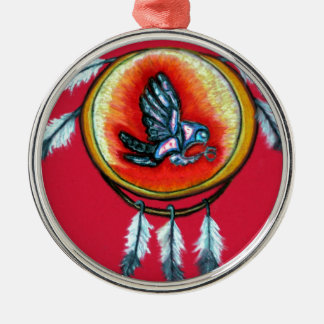 Pari Chumroo Produkte Rundes Silberfarbenes Ornament