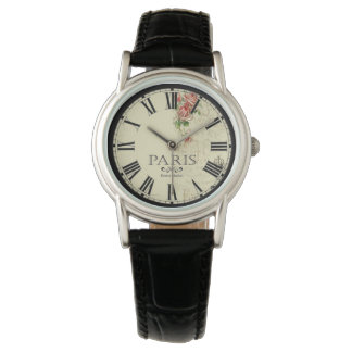 Paris-Blumen-Markt-Uhr Uhr