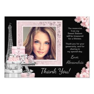 Paris-Bonbon 16 danken Ihnen Karten 11,4 X 15,9 Cm Einladungskarte