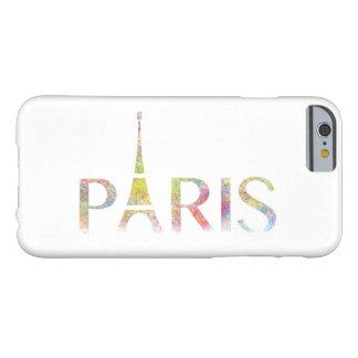 Paris-Eiffelturm-Farbspritzen iPhone 6/6s Fall Barely There iPhone 6 Hülle