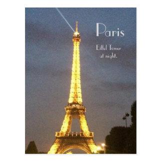 Paris: Eiffelturm nachts Postkarte