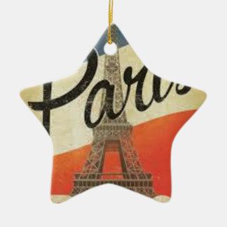 Paris Frankreich Vintage Keramik Ornament
