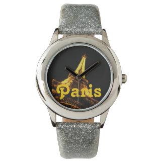 Paris-Glitter-Uhr Uhr