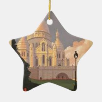 Paris Montmartre Vintage Keramik Ornament