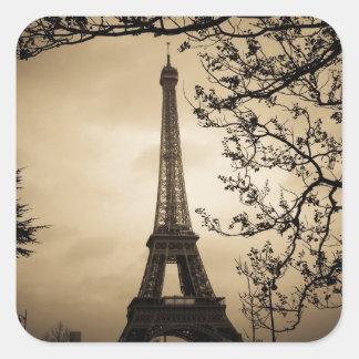 Paris Quadrat-Aufkleber