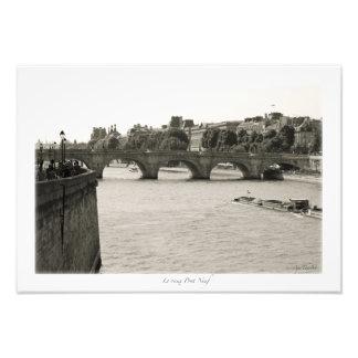 Paris, Seine Photographischer Druck