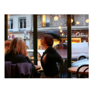 Pariser Atmosphäre Caline Rue Rambuteau Postkarte
