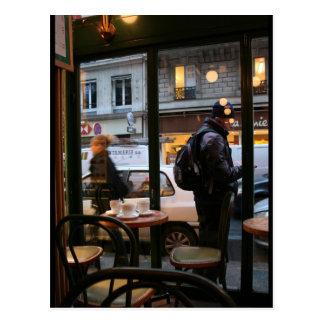 Pariser Atmosphären-Rue Rambuteau nahe Beaubourg Postkarte