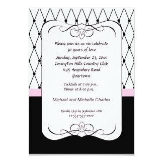 Pariser rosa Jahrestags-Einladung 12,7 X 17,8 Cm Einladungskarte