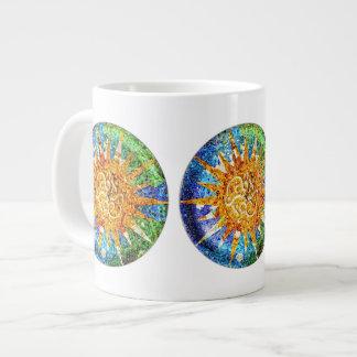 Park Guell Mosaiken Spezialitäten-Tasse Jumbo-Tasse