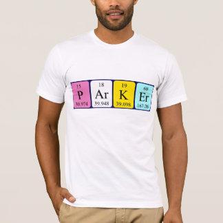 Parker Namen-Shirt periodischer Tabelle T-Shirt
