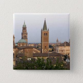 Parma-Stadtzentrum; Battistero Kirche auf Quadratischer Button 5,1 Cm