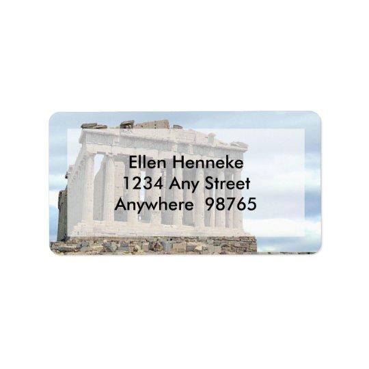 Parthenon 1 adressaufkleber