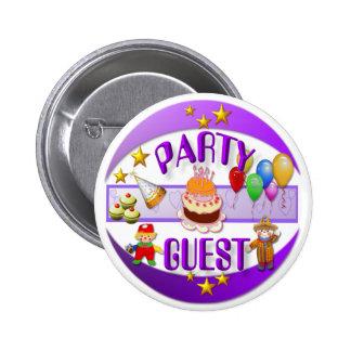 Partuy Gast ~ Knopf Runder Button 5,1 Cm
