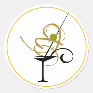PARTY COCKTAIL MARGARITA DRINK, MARGERITA GLASS, RUNDER AUFKLEBER