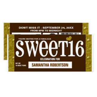 Party Einladung der Süßigkeits-Bar1 16. Geburtstag