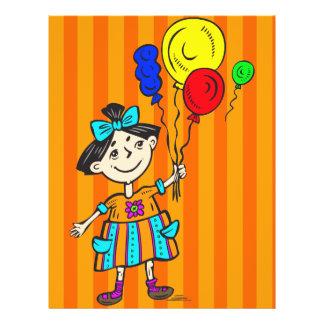 Party-Mädchen mit Ballonen Flyer