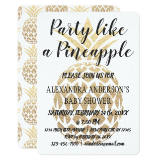 Party mögen eine Ananas-Baby-Dusche Karte