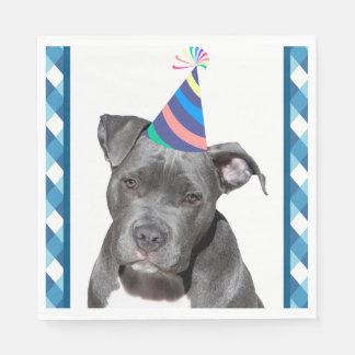Party mögen einen tierischen schwarzen Hund mit Servietten