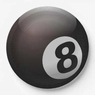 Party-Papier-Teller des Pool-8-Ball Pappteller 22,9 Cm