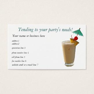 Party-Planer-Cocktails Visitenkarten