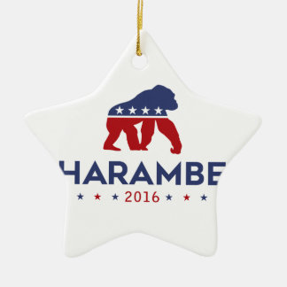 Party-Tier Harambe Keramik Stern-Ornament