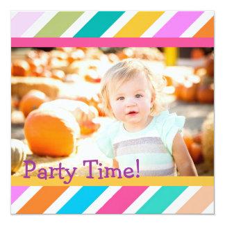 Party Tiime Mädchen-Geburtstags-Einladung Quadratische 13,3 Cm Einladungskarte