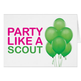 Party wie eine Pfadfinder-Geburtstags-Karte Karte