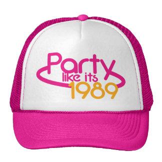PARTY wie es ist 1989 Trucker Mützen