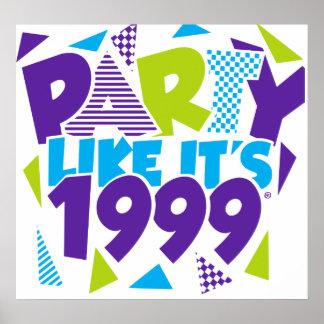 Party wie es ist 1999® - Plakat - Entwurf 01