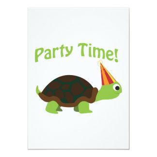 Party-Zeit! Schildkröte-Party Einladung
