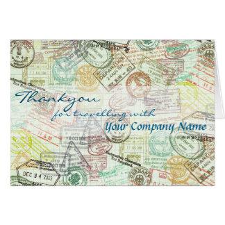 Pass-Briefmarke Reise-Gruß Karte-Danken Ihnen Grußkarte
