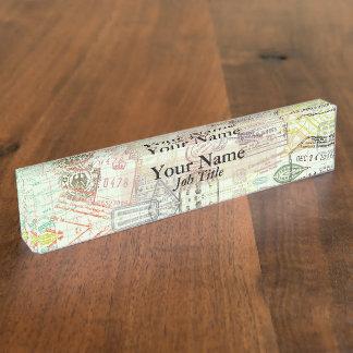 Pass-Briefmarken-Druck-Namensschild
