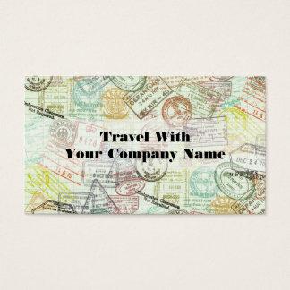 Pass-Briefmarken-Reise-Druck-Geschäfts-Karte Visitenkarte
