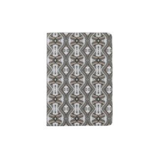 Pass-Halter mit Silber/grauem Entwurf Passhülle