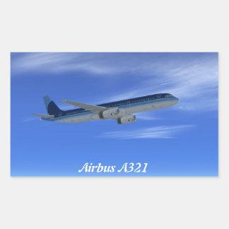Passagierflugzeug-Flugzeuge des JetA321 Rechteckiger Aufkleber
