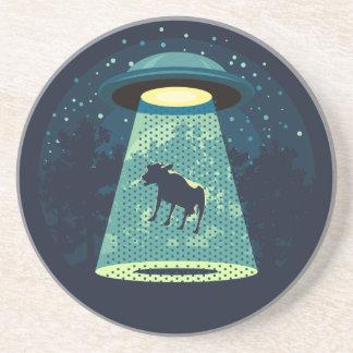 Passen Sie UFO auf Getränkeuntersetzer
